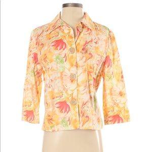 Floral lightweight jacket